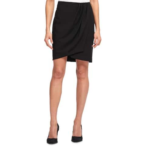 DKNY Womens Wrap Skirt Pleated Mini