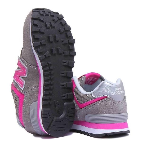Shop New Balance Baby Girl IV574GP Sneakers grey pink
