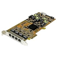 Startech 4 Port Gigabit Power Ethernet Pcie Network Card - Pse / Poe Pci Express Nic (St4000pexpse)
