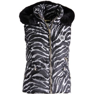 Juicy Couture Black Label Womens Jacquard Puffer Vest