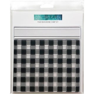 "Concord & 9Th Clear Stamps 6""X6""-Plaid Background"