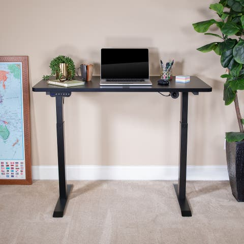 "Electric Height Adjustable Standing Desk - 48"" Wide x 24"" Deep"