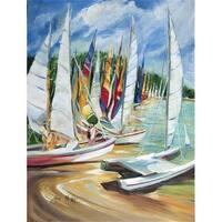 Carolines Treasures JMK1162GF Eastern Shore Sailboats Flag Garden Size