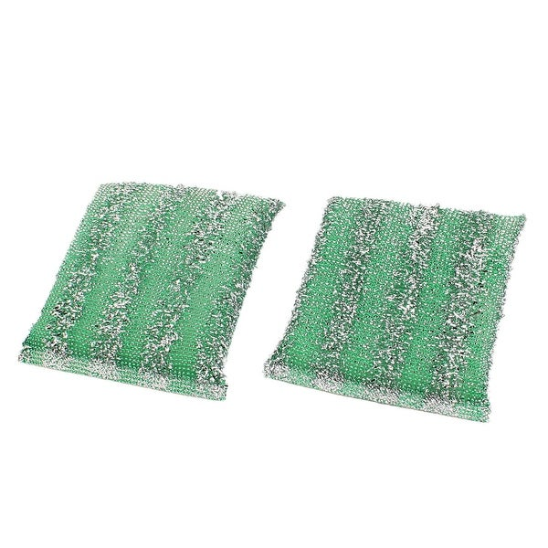 Kitchen Dish Pot Steel Wire Sponge Cleaning Scrubber Scouring Pads 3 Pcs