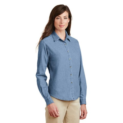 One Country United Women's Long Sleeve Denim Shirt