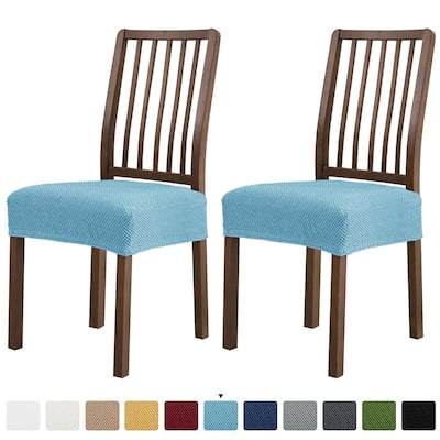 Subrtex 2 PCS Stretch Dining Chair Seat Cover Elastic Cushion Covers