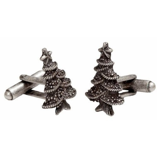 Christmas Tree Pine Tree Holiday Cuff Links