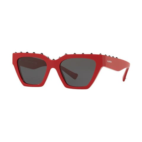 Valentino VA4046 511087 53 Red Woman Irregular Sunglasses
