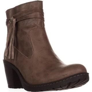 Born Alicudi Tassel Lug Sole Ankle Boots, Taupe
