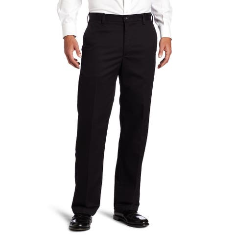 IZOD Mens Dress Pants Black Size 50x30 Big & Tall American Chinos
