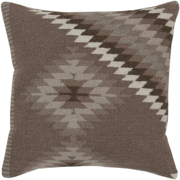 "18"" Smokey Gray and Dark Silver Diamond Decorative Throw Pillow - Down Filler"