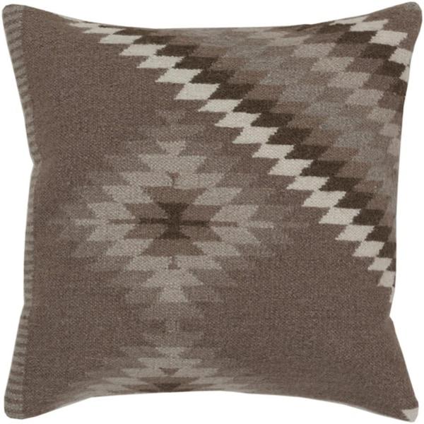 """18"""" Smokey Gray and Dark Silver Diamond Decorative Throw Pillow"""