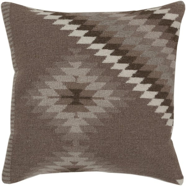 "20"" Smokey Gray and Dark Silver Diamond Decorative Throw Pillow - Down Filler"