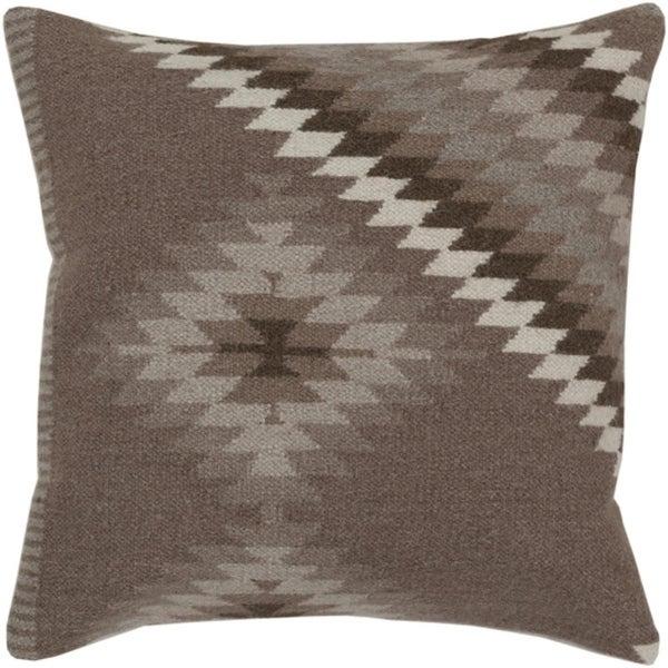 """20"""" Smokey Gray and Dark Silver Diamond Decorative Throw Pillow"""