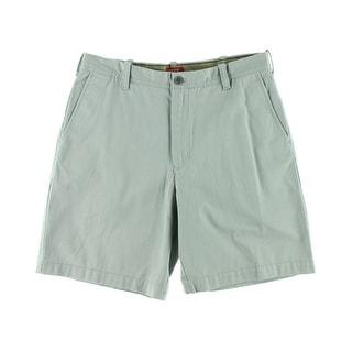 Izod Mens Twill Flat Front Khaki Shorts - 38