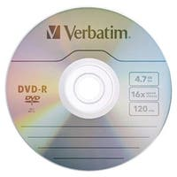 Verbatim 97957 4.7Gb 120-Minute 16X Dvd-Rs, 10 Pk