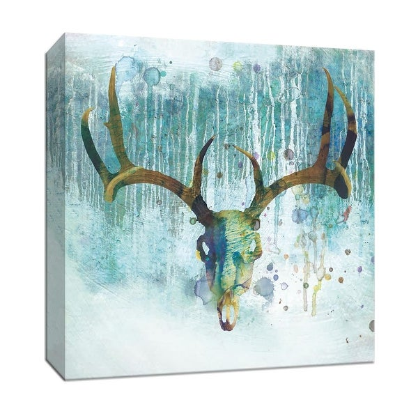 """PTM Images 9-147073 PTM Canvas Collection 12"""" x 12"""" - """"Beyond the Forest I"""" Giclee Deer Art Print on Canvas"""