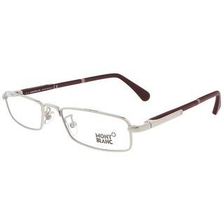 Montblanc MB0448/V 017 Silver/Burgundy Rectangular Eyewear