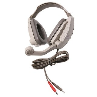 Califone DS-8V Discovery Noise Reducing Binaural Headset, Gray/Beige