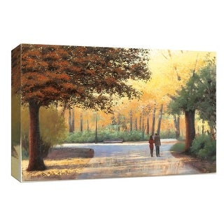 """PTM Images 9-153756  PTM Canvas Collection 8"""" x 10"""" - """"Golden Autumn Stroll"""" Giclee Forests Art Print on Canvas"""