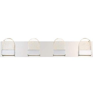 "Platinum PCFY8604 Fantasy LED 32"" Wide Bathroom Vanity Lights with Clear Glass - Polished Chrome"