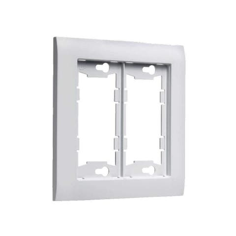TayMac A2000 Allure 2 Gang Rocker / GFI Wall Plate - White