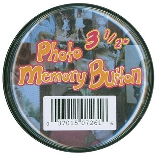 "Memory Button 3.5""-Clear Plastic - clear"