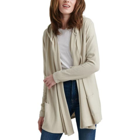 Lucky Brand Womens Cardigan Sweater Jersey Hooded