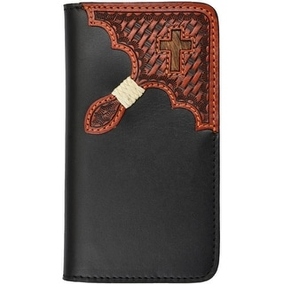 Tony Lama Cell Phone Case Leather iPhone 5/5s Hair On Black TLPH011