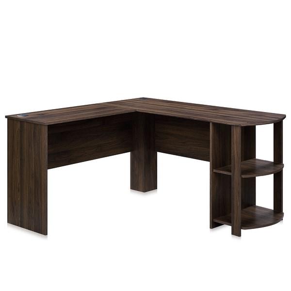 BELLEZE Kent L-Shaped Home Office Desk, Wood Corner Computer Desk - standard. Opens flyout.