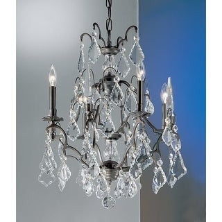 "Classic Lighting 8004 24"" Crystal Cast Brass Mini-Chandelier from the Versailles Collection - Gold"