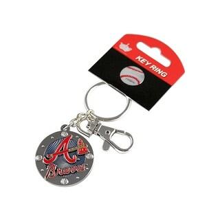 Atlanta Braves MLB Impact Metal Key Ring Keychain