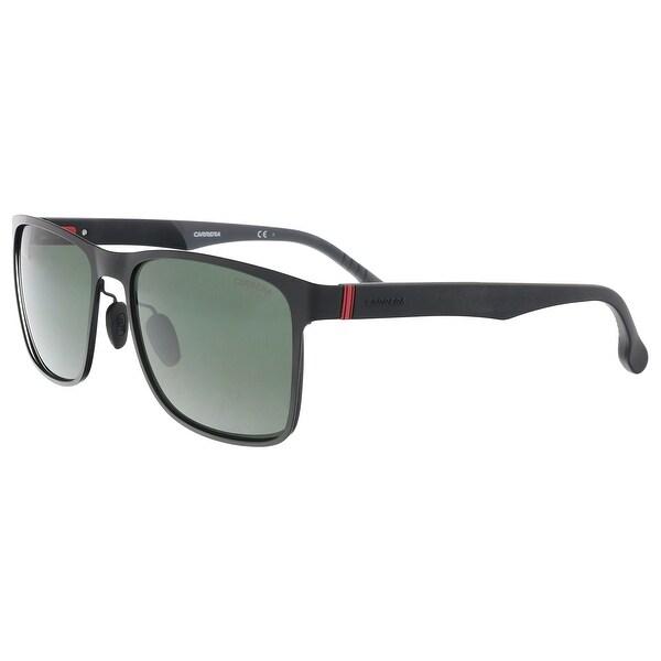 4435858be40 Shop Carrera CARRERA 8026 S 0003-QT Matte Black Rectangle Sunglasses ...