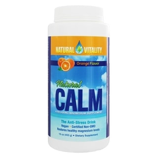 Natural Vitality Natural Calm Magnesium Supplement Orange 16-ounce