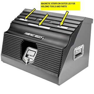 Powerbuilt 26 in. Rapid Box Slant Front Toolbox Tool/Parts Magnets on Lid 240102