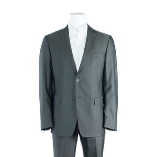 Versace Collection Gray Wool Blend Two Button Suit - 46