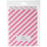 """Srm Merchandise Bags 5.13""""X6.38"""" 12/Pkg-Hot Pink Stripes"""
