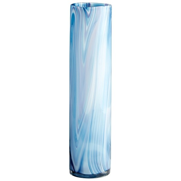 "Cyan Design 09976 Oceana 4-3/4"" Diameter Glass Vase - Blue Swirl"
