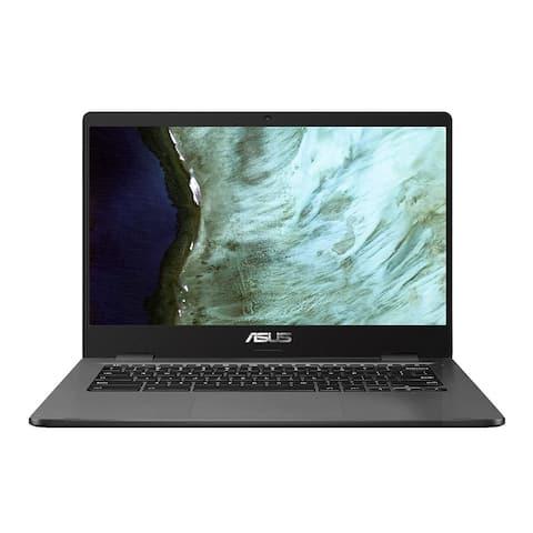 Asus Intel Celeron N3350 4GB 32GB eMMC 14-Inch Chromebook (Slate Gray)