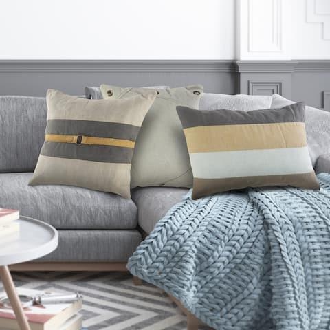Rustic Farmhouse Striped Throw Pillow