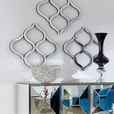 Allan Andrews Lattice Abstract Accent Mirror - Silver
