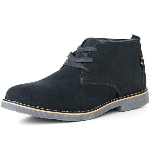 Alpine Swiss Beck Mens Genuine Suede Chukka Boots