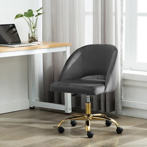 Porthos Home Naiko Velvet Upholstery Swivel Office Chair