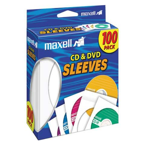 maxell T37884W Maxell CD-DVD Paper Sleeve 100 - white