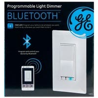 GE 13870 Bluetooth In-Wall Smart Dimmer, 120 Volt