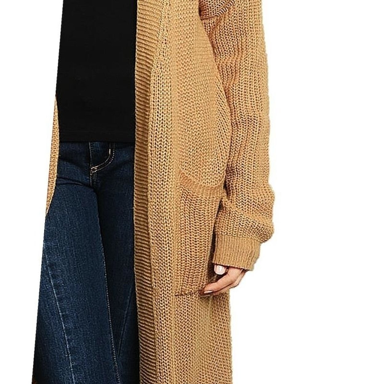 Marled Long Duster Jacket Robe Coat Fall Winter Sweater 208 mv Sweatercoat S M L