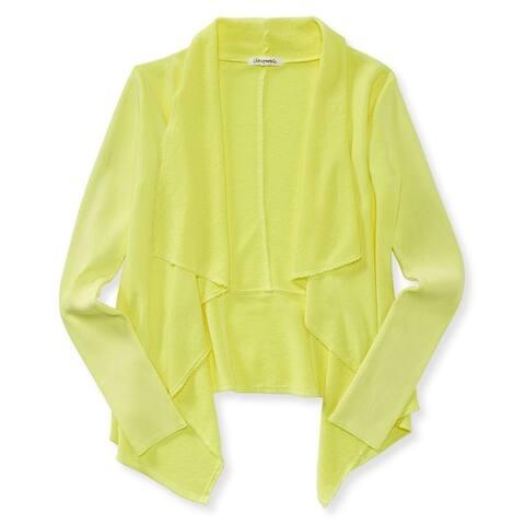 Aeropostale Womens French Terry Drape Cardigan Sweater