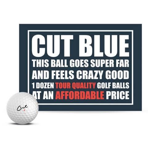 Cut Golf Cut Blue 4 Piece Urethane Pro Golf Balls (12 Pack)  White