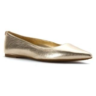 MICHAEL Michael Kors Womens arianna Leather Pointed Toe Slide Flats
