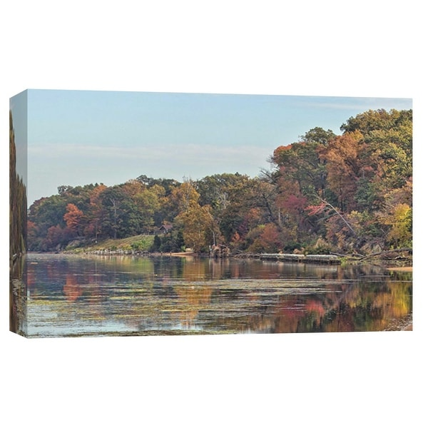 """PTM Images 9-103775 PTM Canvas Collection 8"""" x 10"""" - """"Autumn Mason Neck Virginia Potomac River"""" Giclee Forests Art Print on"""